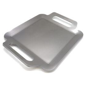 NIHON にほんてつぐせいさく | BBQ鉄板 極厚6mm Sサイズ (32×26cm) バーベキュー アウトドア ソロキャンプ 黒皮鉄 高品質日本製