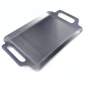 NIHON にほんてつぐせいさく | BBQ鉄板 極厚6mm Sワイドサイズ (42×26cm) バーベキュー アウトドア ソロキャンプ 黒皮鉄 高品質日本製